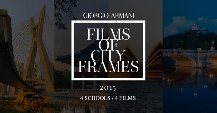 armani films of city frames